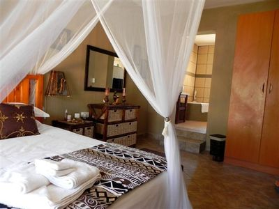 One of the 3 en suite bedrooms at Khaya Romantica