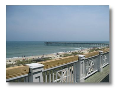 Kure Beach condo rental - Large balcony with ocean view