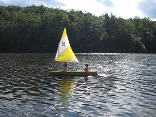 Becket house photo - sailing on the lake