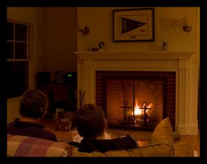 Boothbay Harbor house photo - Relax In Front Of A Wood Fire