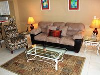 Majestic Sun 608A-1 bedroom, 2 bath condo with newer living room furniture! Gulf view! Email now for a quote!