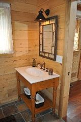 Woodstock lodge photo - West Bathroom - vanity