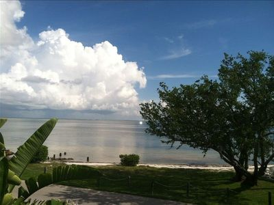 Charlotte Harbor as viewed from living room, dining room and screened lanai.