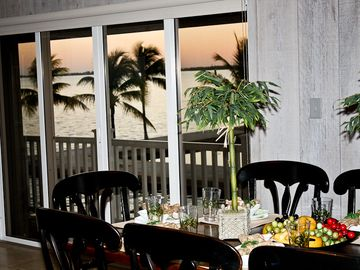 Dine in with 180 degree sunset views.