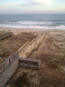 Kure Beach house rental - Brand New Beach Walkout from our House to the Beach