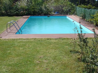 8m x 4m swimming pool on top terrace