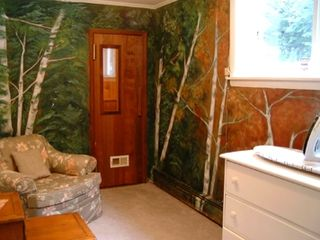 North Conway house photo - Steam sauna off of sitting room, bathroom on right