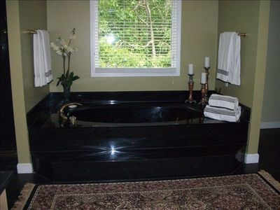 Jacuzzi Tub, Double Shower in Large Master Bath