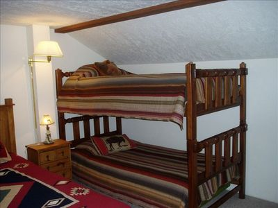 Bunk Beds in Loft--Kids love them!