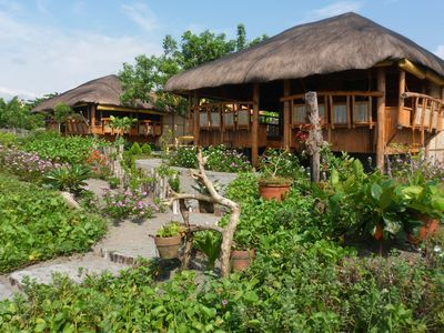 Bamboo Beach Front Cottages - Authentic Bamboo Cottages on the Sea Shore