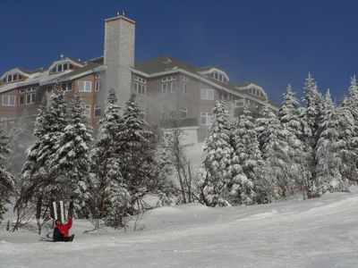 Mont Tremblant condo rental - Grand Manitou from the slopes