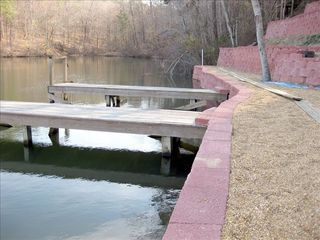 Hot Springs Village house photo - Private dock with seawall, sandy beach, swimming area