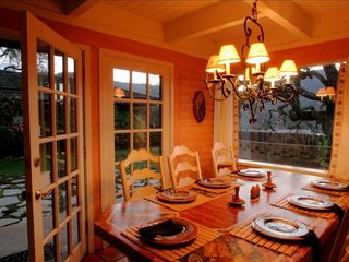 Carmel Valley house photo - Dining Room at dusk