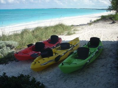 Two of these kayaks are available at the house to rent.