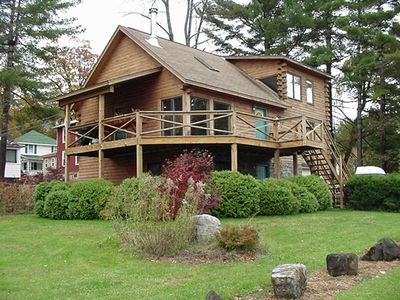 Lake George house rental - View of home from the lake