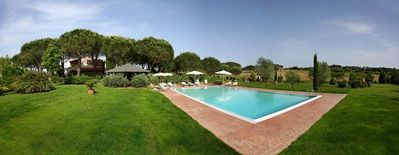 Fauglia apartment rental - swimming pool and garden