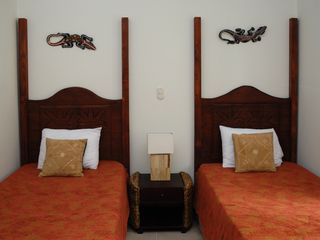 The second bedroom twin beds