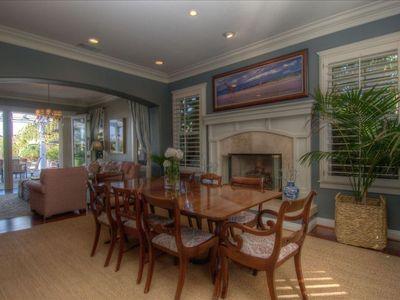 La Costa house rental - Dining Room with Fireplace