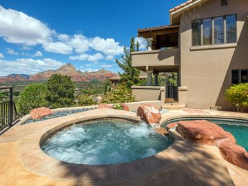 Sedona house rental - Private pool & hot tub with privacy & views