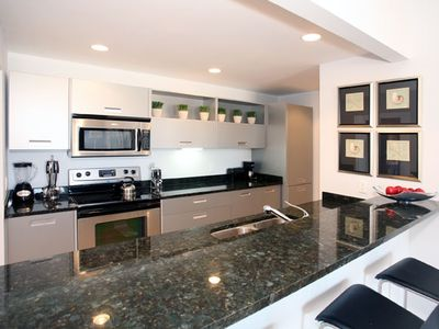 Fully equipped kitchen condo rental