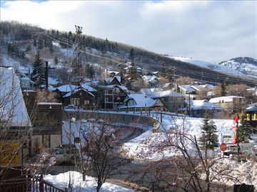Town Lift Condominiums condo rental - This is the view from Living Room-65 feet from the bottom of the Town Lift Run!