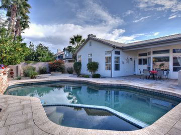 Scottsdale North house rental - Backyard with pool and heated spa