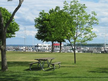 Northport Marina from Haserot Beach Park.