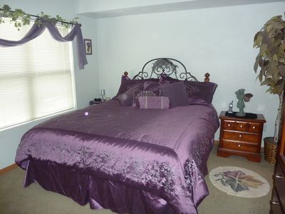 Master Bedroom - King size bed, double closets - private bath.