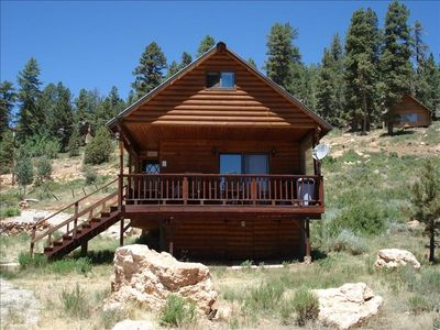 Cozy cabin over looking duck creek meadow vrbo for Vacation rentals near zion national park