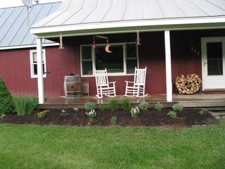 Bridgewater Corners farmhouse photo - Farmers porch