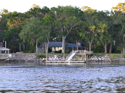 Direct Waterfront with Dock! Sunset Cottage at Colonels Island near Savannah