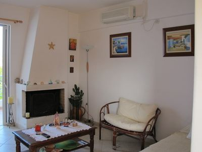 Aegina Island apartment rental - Fireplace