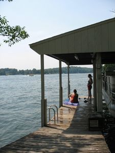 Swim, fish or moor your boat at our boat dock