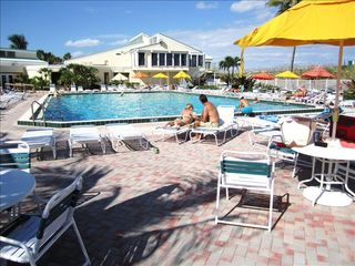 Hutchinson Island condo photo - Main pool with spa, sauna, baby pool, restaurant