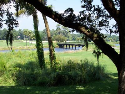 Beautiful lagoon and golf course views