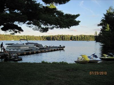 Dock space with access to 28 lakes on the chain. The largest freshwater chain.