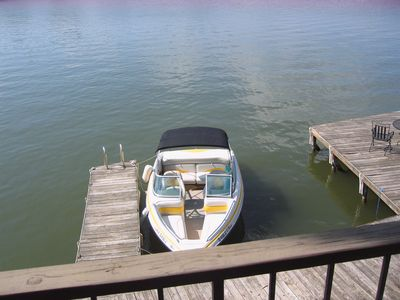 Convenient dock and boat slips right in front of the unit.