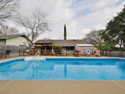 Backyard Pool - Our pool is a great way to cool off after a hot summers day!