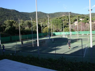 Local tennis court