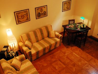 Rome apartment rental with livingroom and sofa bed