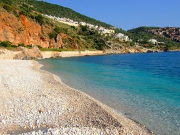 Kalkan Town Beach next to Kleo Bar!