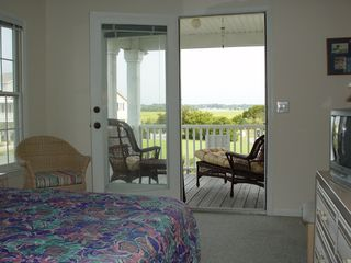 Holden Beach house photo - Master bedroom and private porch