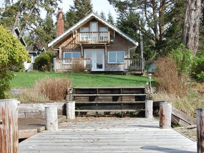 View of Cottage from Private Dock