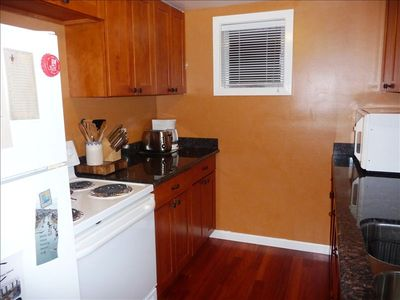 We have remodeled our kitchn - beautiful cabinets & granite countertops.