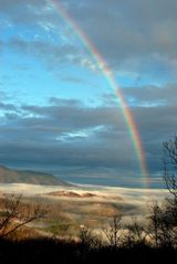 Sevierville chalet photo - A view from one of the decks after a storm in January 2010. Beautiful!