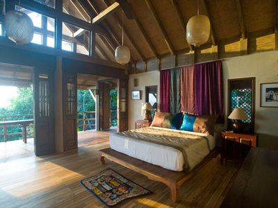 Laem Set beach estate rental - Samudra Octagon Master Bedroom