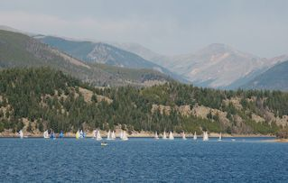 Dillon condo photo - Sailing on Lake Dillon, looking towards Breckenridge.