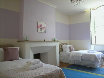 Twin bedroom, features views of the Chateau