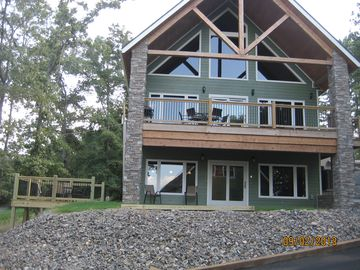 Greers Ferry Lake condo rental - Front view of unit. It is the bottom unit with side deck.