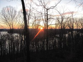 French Lick cabin photo - Sunrise from the back porch, November 29.